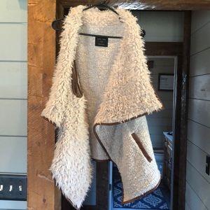 Work once euc large vest cowl neck style